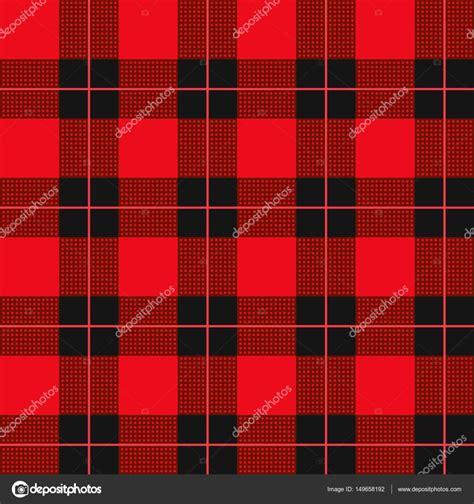 plaid pattern red black lumberjack plaid pattern red tartan seamless vector