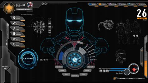 shield iron man theme  windows
