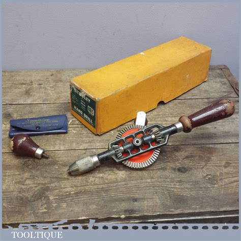 model woodworking tools boxed stanley no 803 eggbeater drill model