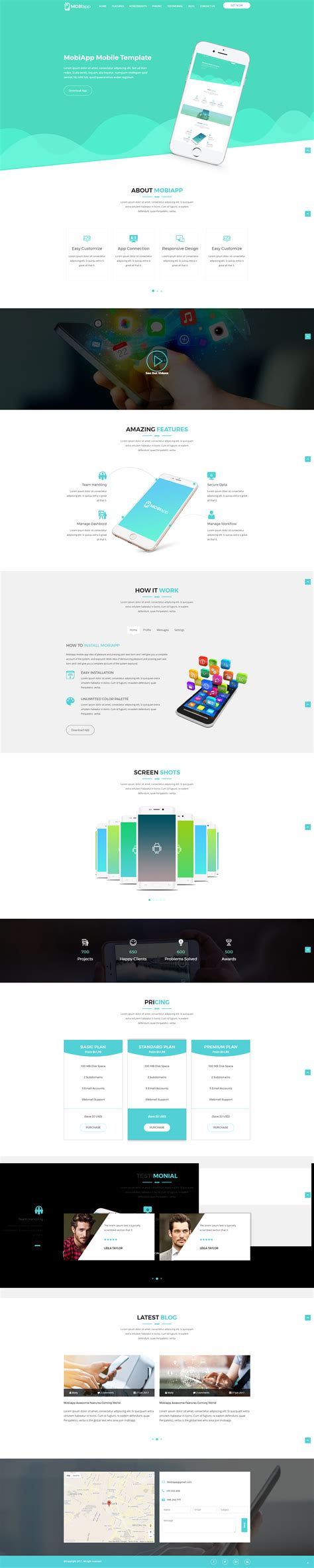 html5 template file mobiapp html5 responsive template by radontheme themeforest