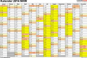 Kalender 2018 Mit Feiertagen Und Ferien Nrw Kalender 2014 Nrw Ferien Feiertage Excel Vorlagen