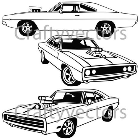 1970 dodge charger drawing dodge charger 1970 vector file