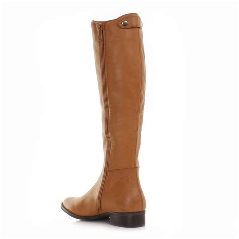womens knee high boots womens leather style knee high flat chelsea