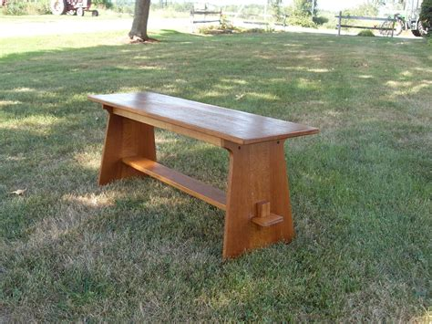 mission style benches handmade mission style bench by the frugal woodworker