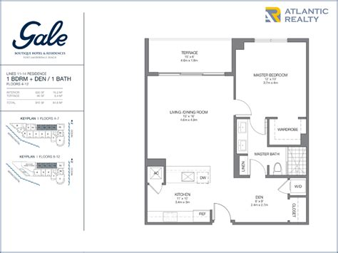 boutique floor plan gale boutique hotel residences new miami florida beach