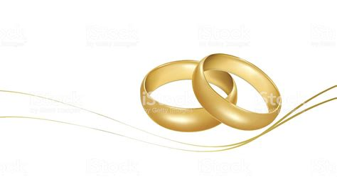 Zwei Goldene Hochzeit Ringe Stock Vektor Und Mehr