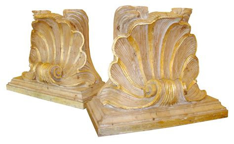 carved wood table bases fabulous carved wood shell form table bases modernism