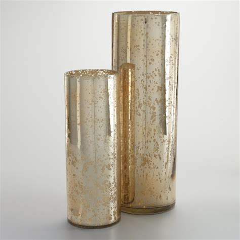 Mercury Glass Vases by Chagne Mercury Glass Vase World Market
