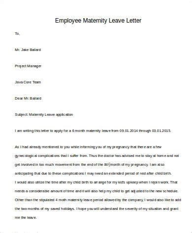 Company Leave Letter For Employee