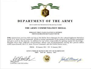 Commendation medal citation drafter