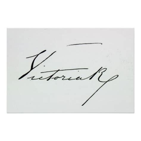 queen victoria signature signature of queen victoria pen and ink on paper poster