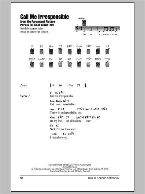 strumming pattern call you home tablature guitare call me irresponsible de frank sinatra