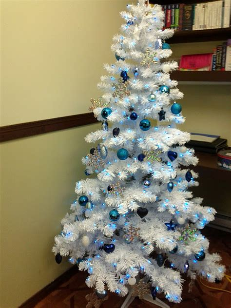 white and blue tree luhivy s favorite things silver white and blue