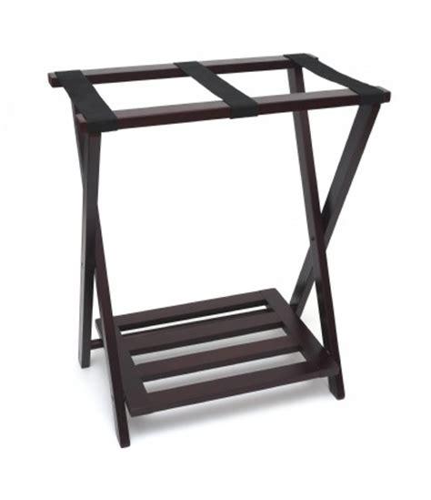 Folding Luggage Rack With Bottom Shelf by Right Height Folding Luggage Rack With Bottom Shelf