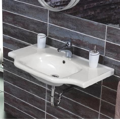 self rimming bathroom sinks rectangular white ceramic wall mounted or self rimming