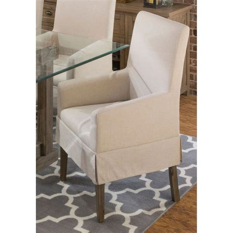 Slipcovers For Dining Chairs Without Arms - contemporary slipcover dining arm chair hton rc