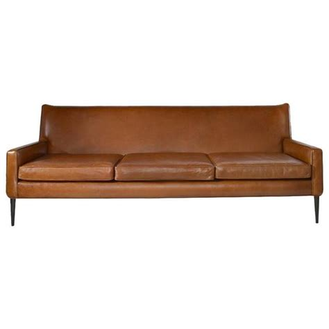 directional sofa paul mccobb for directional sofa in cognac leather at 1stdibs