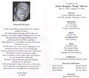 funeral biography template memorial biography for army staff sergeant douglas