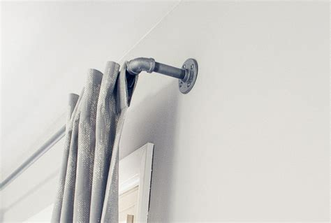 pipe curtain rod galvanized window curtain rod urban industrial chic pipe