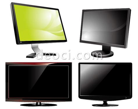 format file video untuk tv lcd 4 vector tv lcd monitor design of the eps file format
