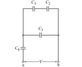 what is the charge on the capacitor express your answer in nc a determine the charge on each capacitor express chegg