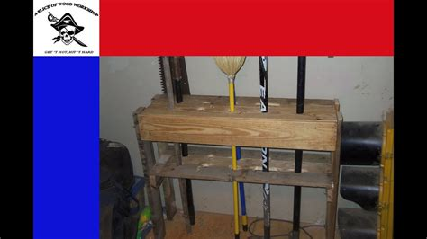 easy diy yard tool storage   pallet youtube