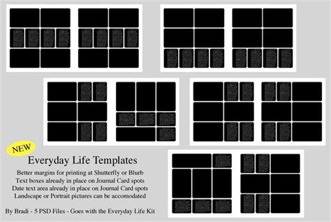 templates for photo everyday photobook templates photoshop printables