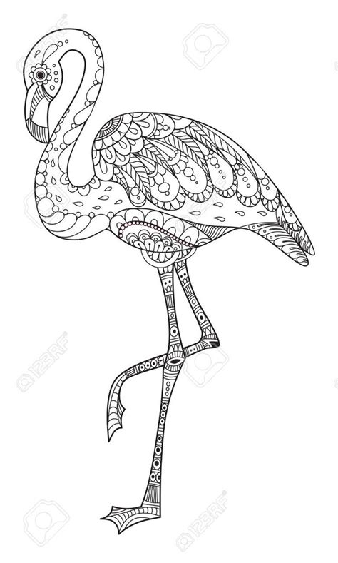 stock photo flamingo coloring page mandala coloring