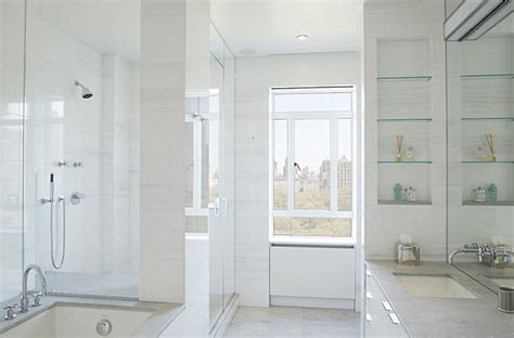 glass shelves in bathroom glass shelving in a light and airy bathroom decoist
