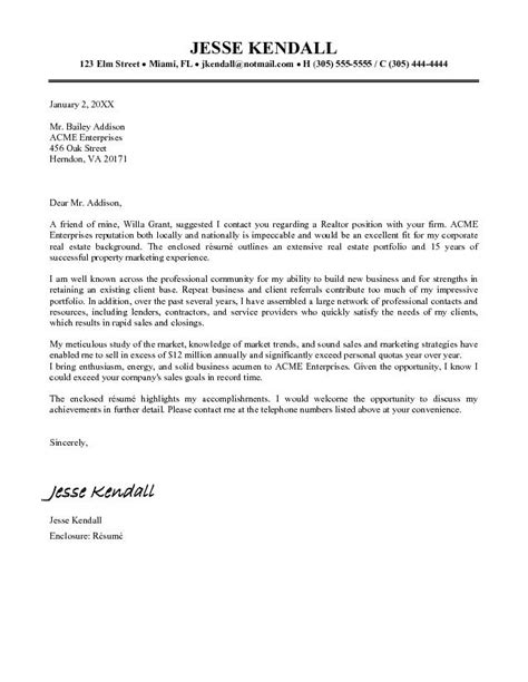 exle real estate cover letter cover letter free