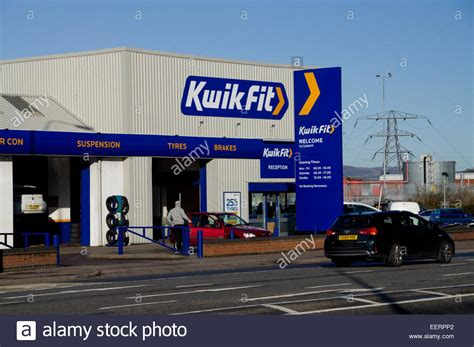 Fit Garage by Kwik Fit Garage Newport Road Cardiff Wales Uk Stock