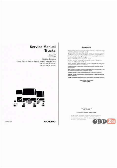 volvo wiring diagrams fm9 fm12 fh12 fh16 nh12 4k wallpapers