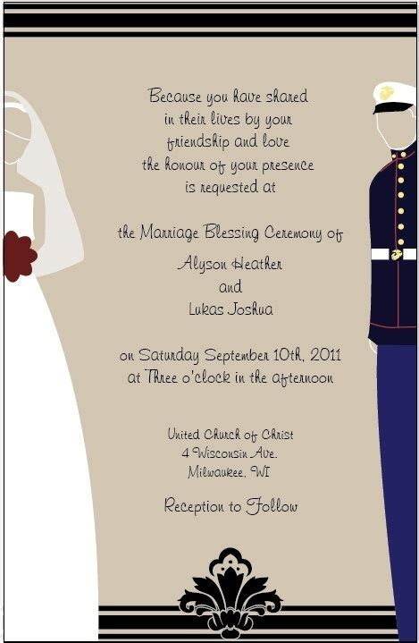 Usmc Wedding Invitations by Wedding Invitations Marine