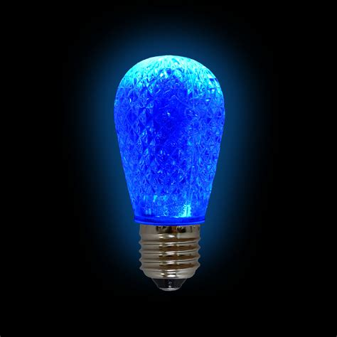 Led Blue Light Bulb Led S14 Light Bulb Medium Base Faceted Bulb Blue