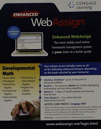 intermediate algebra connecting concepts through applications books developmental math webassign a