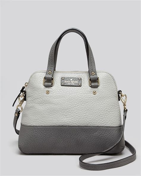 Tas Kate Spade New York Grove Court Maise Satchel 412 Semi Platinum kate spade new york satchel grove court maise colorblock in gray lyst