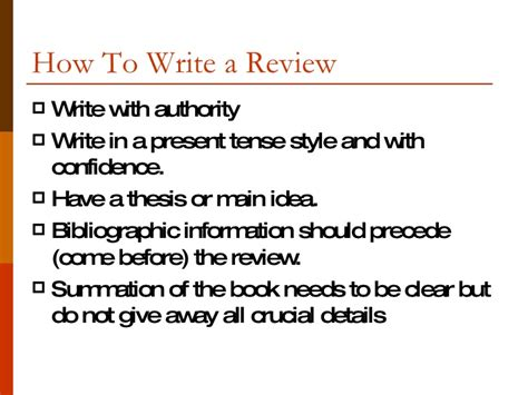 steps to writing a book report writing a book review