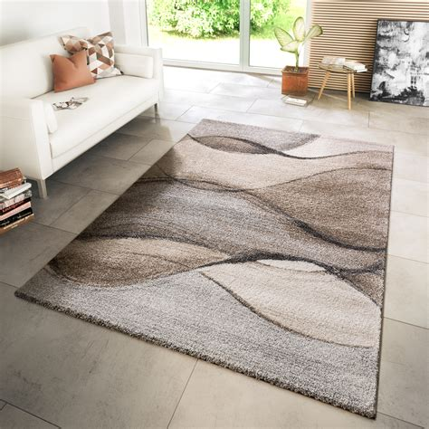 teppich modern grau teppich modern wohnzimmer webteppich modern style wellen