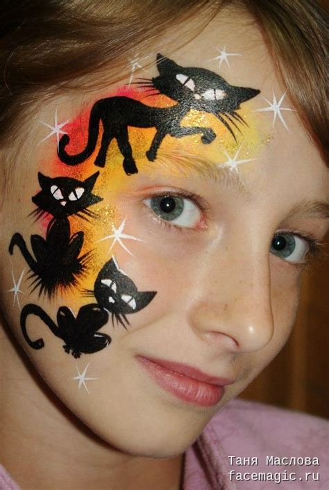 scary cat painting ideas black cat paint www imgkid the image kid has it
