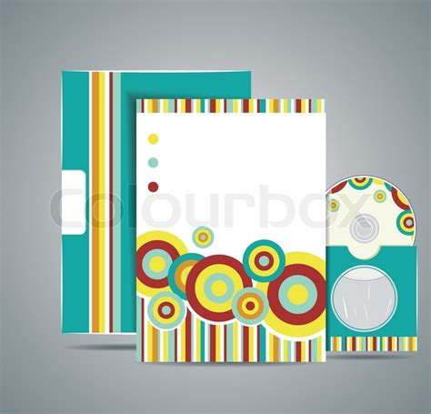 creative cover letter template layout business set design leaflet folder card icon