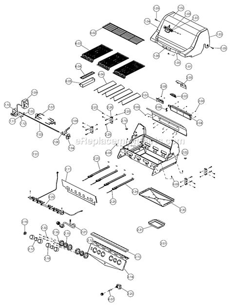 Backyard Grill Parts List Blue Ember Be50057 564 Parts List And Diagram