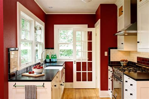 red kitchen walls with oak cabinets c b i d home decor and design rebirth