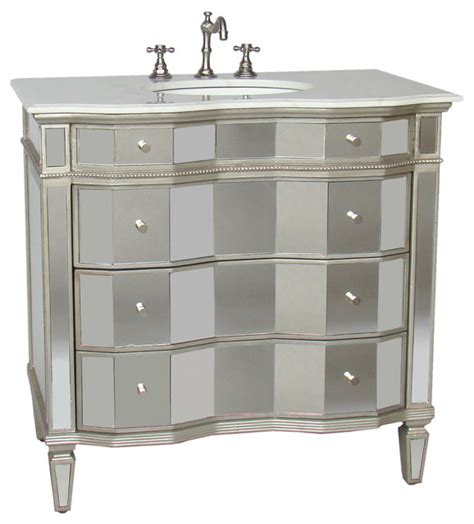 Furniture Vanity Sink Mirrored Vanity With Sink 30 Quot Contemporary