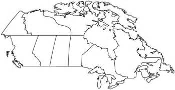 outline of canada map canadian provinces outline maps