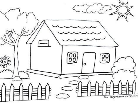 Buku Mewarnai Colouring Sheet 3 Bahasa Sinar Dunia Creative mewarnai gambar rumah gambar mewarnai