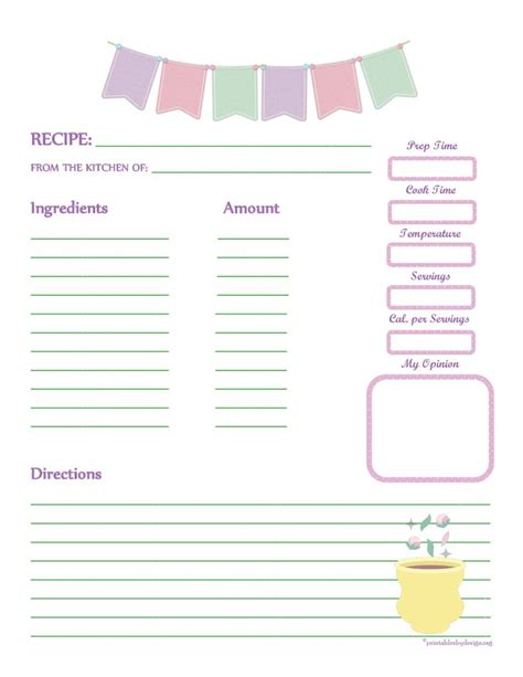 4 recipe book template outline templates
