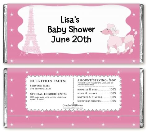 baby shower chocolate wrappers template baby shower wrapper template www pixshark