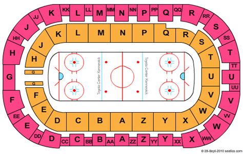 toyota center kennewick wa seating map disney on tickets seating chart toyota center hockey