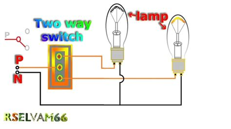 wiring diagram for two way light switch two lights one