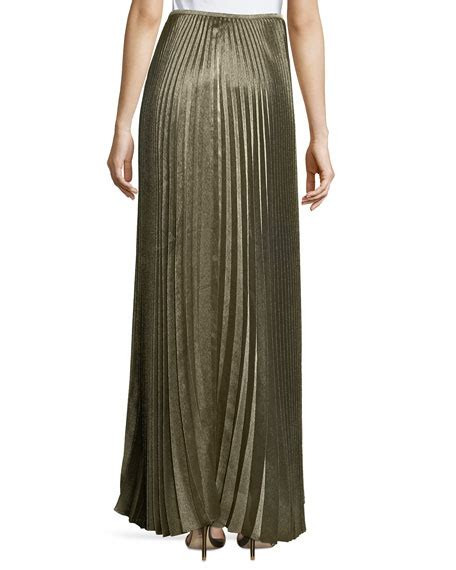 Lafayete Maxi lafayette 148 new york florianna bijoux pleated metallic maxi skirt neiman